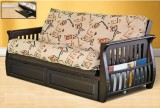 231 - FUTON FRAME WITH MAGAZINE RACK - ESPRESSO