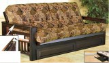 238 - FUTON FRAME WITH MAGAZINE RACK - ESPRESSO