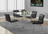 "I 1070 - CHROME METAL / 8MM TEMPERED GLASS 40""DIA DINING TABLE ONLY"