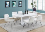 "I 1090 - HIGH GLOSSY WHITE 35""X 60"" DINING TABLE ONLY"