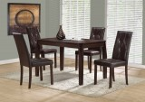 "I 1180 - CAPPUCCINO VENEER 32""X 48"" DINING TABLE / I 1181 - DARK BROWN LEATHER-LOOK 38""H DINING CHAIR"