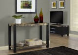 "I 1623 - DISTRESSED RECLAIMED-LOOK / BLACK 48""L CONSOLE TABLE"
