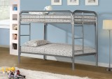 VENUS II - Silver Metal Twin / Twin Bunk Bed Only