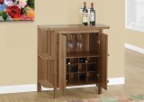 "I 2324 - HOME BAR - 36""H / WALNUT WITH BOTTLE AND GLASS STORAGE"