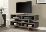 "I 2462 - DARK TAUPE RECLAIMED-LOOK HOLLOW-CORE 48""L TV CONSOLE"