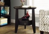 "I 2491 - CAPPUCCINO 23""DIA ACCENT TABLE WITH 1 DRAWER"
