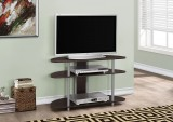 "I 2523 - TV STAND – 38""L / CAPPUCCINO WITH SILVER ACCENT"