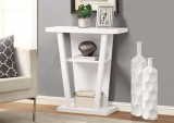 "I 2560 - WHITE 32""L HALL CONSOLE ACCENT TABLE"