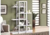 "I 2561 - WHITE 71""H OPEN CONCEPT DISPLAY ETAGERE"