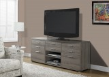 "I 2587 - DARK TAUPE RECLAIMED-LOOK 60""L TV CONSOLE WITH 8 DRAWERS"