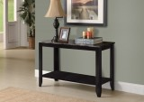 I 3131 - BLACK / GREY MARBLE-LOOK TOP SOFA CONSOLE TABLE