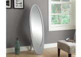 I 3359 - GREY CONTEMPORARY OVAL CHEVAL MIRROR