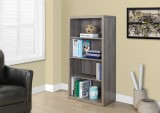 I 7060 - DARK TAUPE RECLAIMED-LOOK 48″H BOOKCASE / ADJ. SHELVES