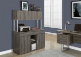 I 7067 - DARK TAUPE RECLAIMED-LOOK 48″L OFFICE STORAGE CREDENZA