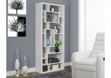 I 7071 - WHITE HOLLOW-CORE 72″H BOOKCASE