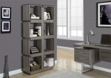 "I 7078 - DARK TAUPE RECLAIMED-LOOK 71""H BOOKCASE"