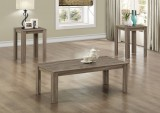 I 7912P - DARK TAUPE RECLAIMED-LOOK 3PCS TABLE SET