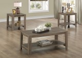 I 7914P - DARK TAUPE RECLAIMED-LOOK 3PCS TABLE SET