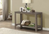 "I 7915S - CONSOLE TABLE – 44""L / DARK TAUPE"