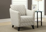 "I 8009 - ACCENT CHAIR – SANDSTONE / GREY "" MAZE "" FABRIC"