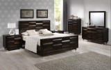 Katherine - 6Pc King Bedroom Suite in Antique Mahogany by Titus Furniture