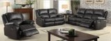 Brody - 3Pc Recliner Set - Sofa, Loveseat and Chair in Black Leather Gel