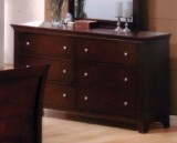 LAURA - 6 DRAWER DRESSER IN DARK CHERRY