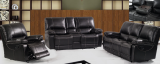 LISBON - 3PC LEATHER GEL RECLINER SET IN CHOCOLATE