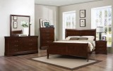 Louis Phillipe - 6Pc Twin Bedroom Suite in Semi-Dark Cherry by Titus Furniture