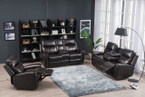 Calvin - 3PC Power Recliner Set - Sofa, Loveseat and Chair in Brown Leather Gel