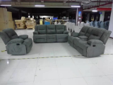 Ethan - 3PC Recliner Set - Sofa, Loveseat and Chair in Grey Fabric