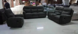 Tuxedo - 3Pc Recliner Set - Sofa, Loveseat and Chair in Grey Fabric