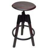 MARAN ADJUSTABLE BAR STOOL IN WALNUT