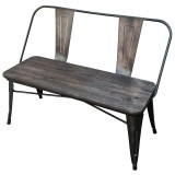 MODUS DOUBLE BENCH IN GUNMETAL