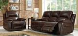 MARGARET - 3PC RECLINER SET IN LEATHER GEL BLACK