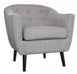 NORA ACCENT CHAIR - GREY FABRIC