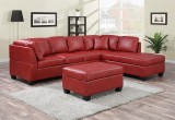 NEW JERSEY - SECTIONAL WITH CHAISE ONLY IN RED