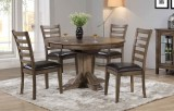 "NEWPORT 57"" PEDESTAL TABLE WITH BUTTERFLY LEAF & 4 CHAIRS BY WINNERS ONLY"