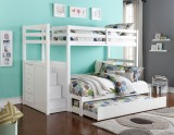 "Princeton Step/ Staircase 39"" / 54"" Bunk Bed Only - White"