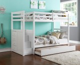 "Princeton Step / Staircase 39""/39"" Bunk Bed Only - White"