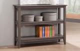 Quadra Low Bookcase in Grey by Winners Only