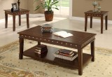 RODEO - 3PC COFFEE TABLE SET IN WALNUT