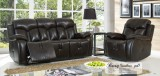 ROXY - 3PCS RECLINER SET IN BLACK - LEATHER GEL