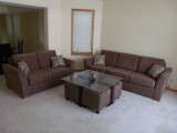 Custom Made Modern Sofa and Loveseat