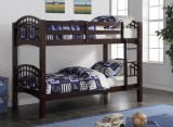SHANGHAI TWIN / TWIN BUNK BED FRAME IN ESPRESSO