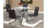 SOLARA BLACK DINING TABLE - 5PCS