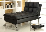 SUSSEX LOUNGE CHAIR IN FAUX LEATHER BLACK