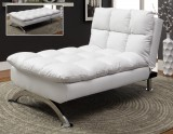 SUSSEX LOUNGE CHAIR IN FAUX LEATHER WHITE