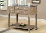 T-3712 - Kitchen Island in Distressed Grey by Titus Furniture
