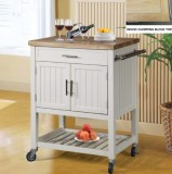 T-3714 - Kitchen Island in White Wood Finish by Titus Furniture